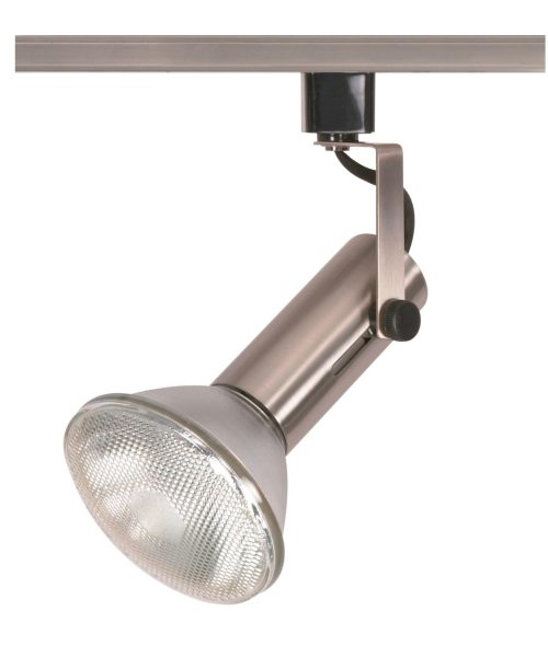 """2"""" 1 Light Track Head in Brushed Nickel"""