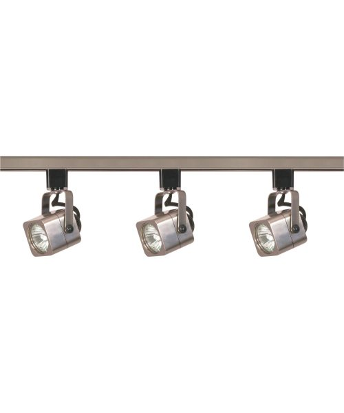"4"" 3 Light Track Lighting Kit in Brushed Nickel"