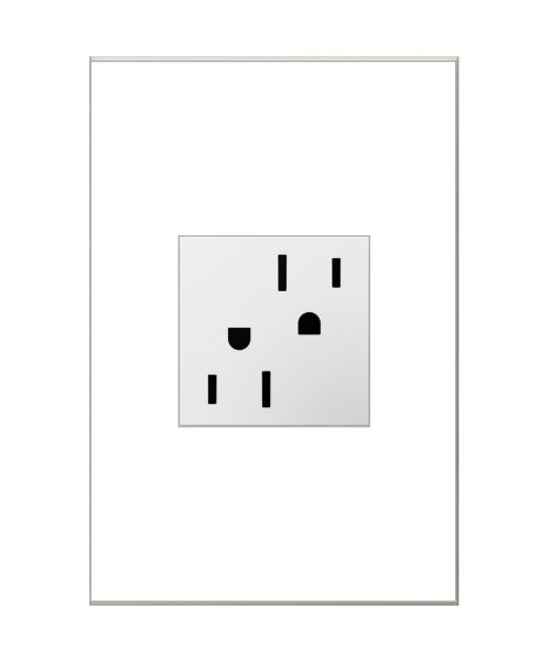 """4"""" Electrical Outlet in White"""