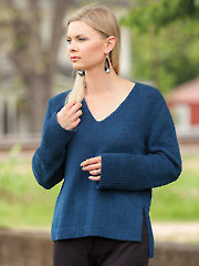 ANNIE'S SIGNATURE DESIGNS: Simple V-Neck Pullover Knit Pattern - Electronic Download