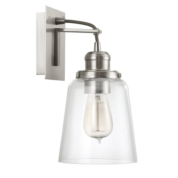 Capital Lighting Signature 1-Light Sconce in Brushed Nickel
