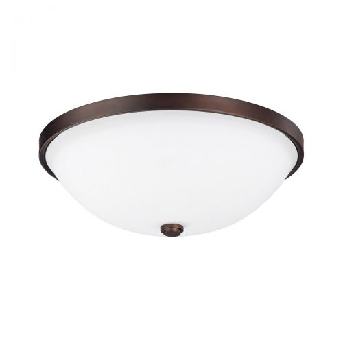 Capital Lighting Signature 3-Light 15 Inch Flush Mount in Burnished Bronze