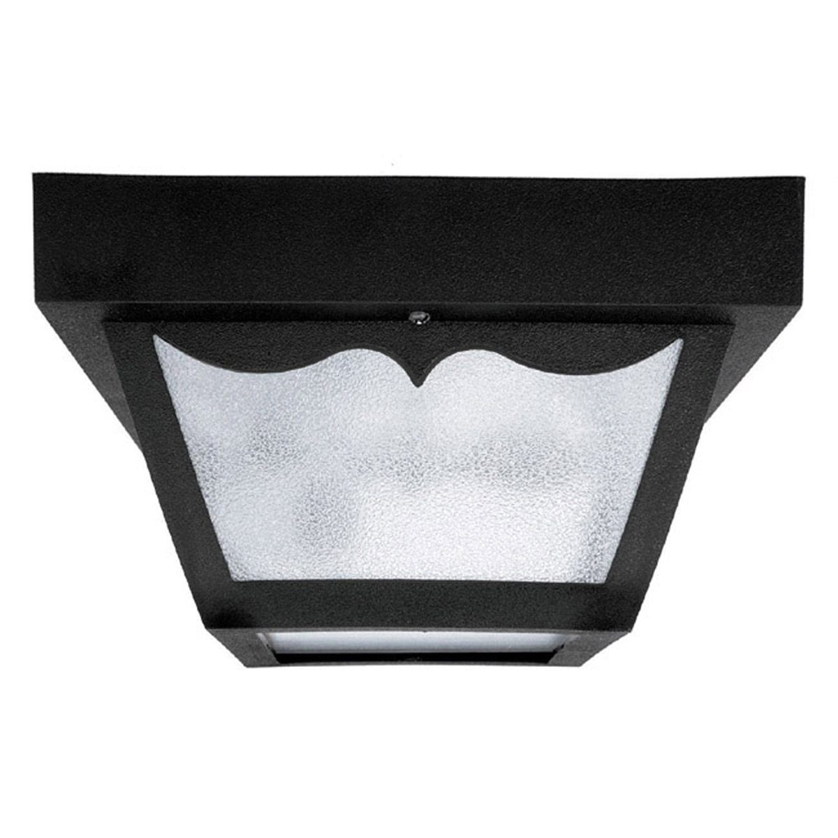 Capital Lighting Signature Outdoor Poly Flush Mount in Black