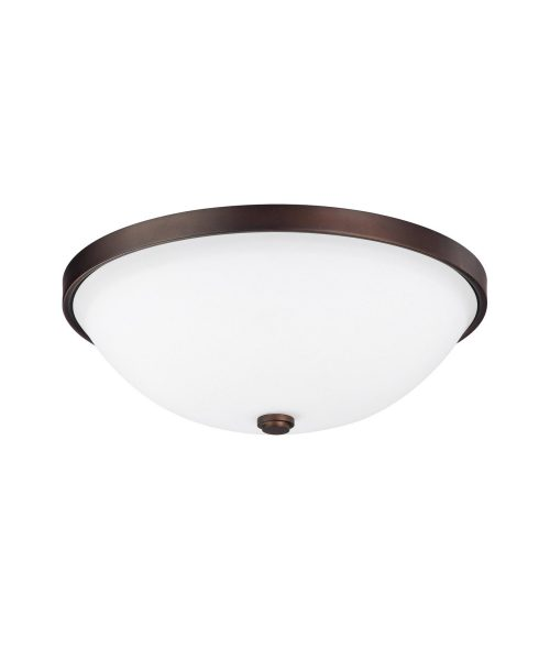 "Covington 13"" 2 Light Flush Mount in Burnished Bronze"