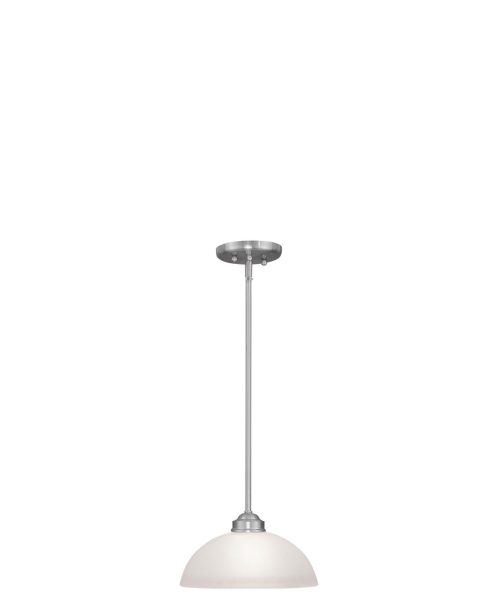 "Somerset 11"" 1 Light Mini Pendant in Brushed Nickel"