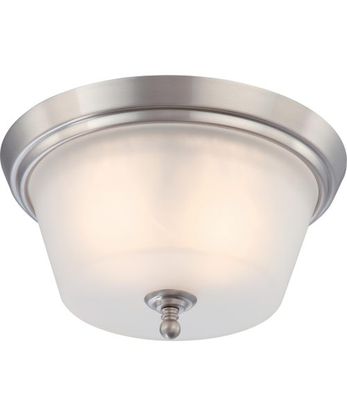 "Surrey 13"" 2 Light Flush Mount in Brushed Nickel"