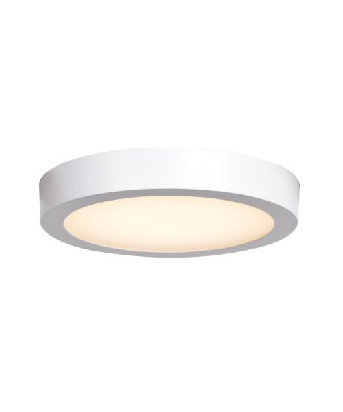 Access Lighting Strike 2.6 9 Inch Wide 1 Light Outdoor Flush Mount Access Lighting0072LEDD-WH-ACR - Modern Contemporary Outdoor Ceiling Light