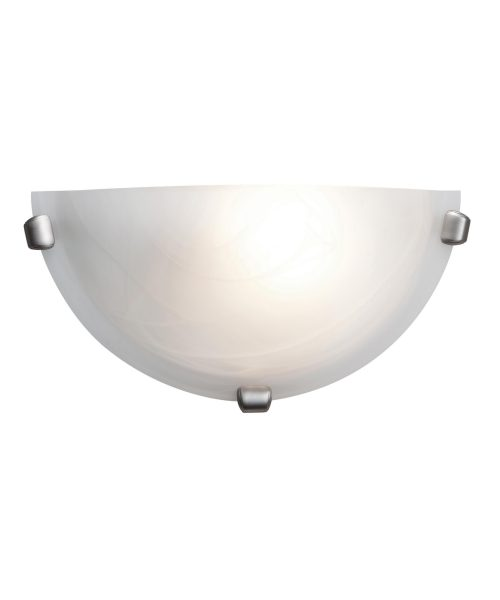 Access Lighting Mona 12 Inch Wide Wall Sconce Access Lighting0417LEDDLP-BS-ALB - Modern Contemporary Wall Sconce