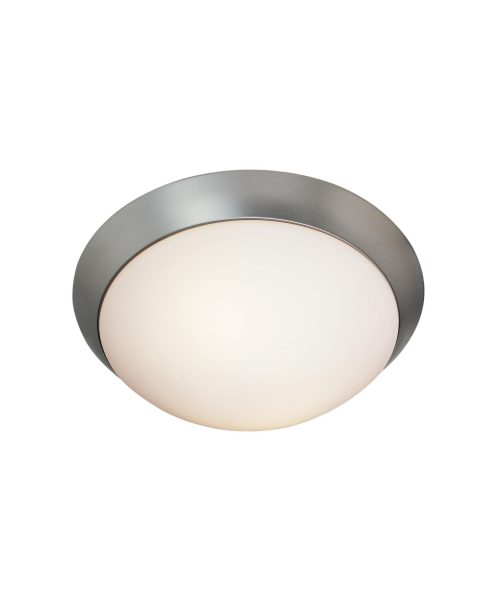 Cobalt LED 1 Light Flush Mount in Brushed Steel